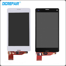 "4.5"" White Black For Sony Xperia Z3 Mini Compact D5803 D5833 LCD Display Touch Screen Digitizer Assembly Free Shipping+Track No."