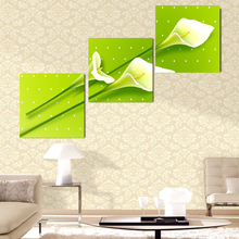 Unframed Canvas Painting Posters 3 Pcs Flowers Modern Cuadros Decoracion Wall Pictures For Living Room Top-rated Modular Picture(China)