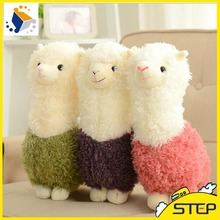 20CM Hot Sale Cartoon Cute Alpaca Sheep Plush Toy Colorful Stuffed Animal Toys Birthday Gifts For Kids PT038(China)