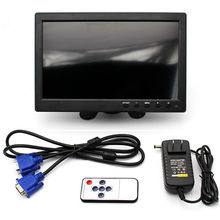 "10.1"" TFT LCD Color Thin 2 Video Input PC Audio Video Display VGA HDMI AV Interface Monitor Screen with Remote Control(China)"