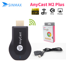 Anycast M2 plus Ezcast Miracast Google Chromecast dongle HDMI 2 1080p TV Stick WIFI Display Receiver Dongle Andriod smart stick(China)