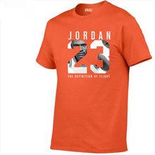 8e30160e700 High Quality New Arrivals Michael Jordan 23 Men's T shirt Printed Casual  Digital Patchwork T-shirt Male Tees Tops