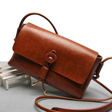 Real Italian Leather Ladies Messenger bags, retro trend handbags, fashion Shoulder bags cowskin Crossbody bags Satchel Purse(China)