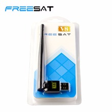 [GENUINE] FREESAT V8 USB wifi with Antenna work for Freesat V7 V8 series digital satellite receivers and other FTA set top box(China)