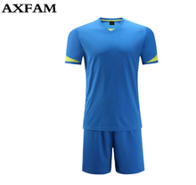 free Custom Printed blank new soccer jerseys Sets adult Breathable Quick-drying training football jerseys Short sleeves Uniform(China)