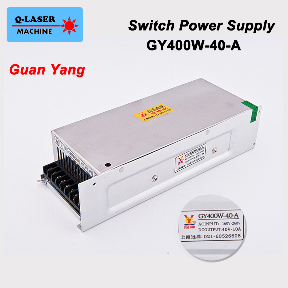 Guanyang Switch Power Supply 40V 10A 400W for 57 Stepper Motor Driver CNC Laser Engraving Cutting Machine GY400W-40-A<br>