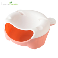 Fruit Bowl Lemorange Plastic Double Layered Dry Fruit Candy Snack Storage Box Plate Dish Tray With Mobile Phone Stents TQQ0047