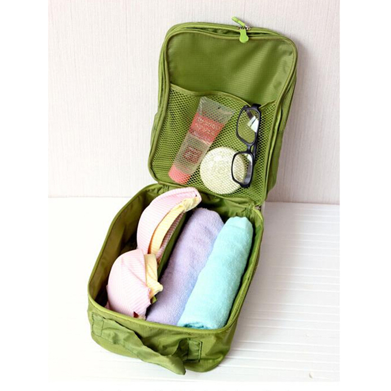 21.5 * 29 *13 Cm Waterproof Travel Laundry Bag, Toiletries Laundry Shoes Storage Bag Tote, Dual Room(China (Mainland))