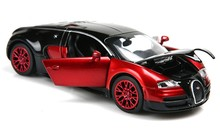 1:36 Red Collection Metal Bugatti Veyron Diecast Car Model Toy Gift Light&Sound
