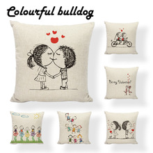 Custom Printed San Valentin Pillows Pillow Cushion Case Ethnic Pillow Cases Game Decorativas Thanksgiving Throw Pillow Cover(China)