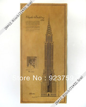 Large Vintage Wall Paper Poster 71cm x 32.5cm(28*12.50inch) Gifts New York's Chrysler building construction drawings(China)