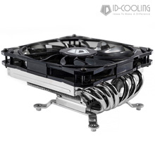 ID-COOLING IS-60v2 TDP 130W Low Profile/Slim ITX/HTPC System CPU Cooler With 6 Heatpipes, 120mm Fan, Compatible with Intel & AMD