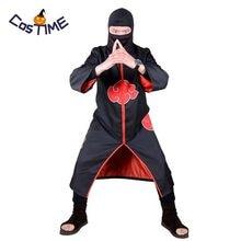 4543c55429f86 Naruto Akatsuki manto Itachi Uchiha Cosplay traje Taka Hebi equipo rojo  uniforme nubes negro capa Unisex disfraces de Halloween