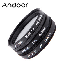 Andoer 40.5mm UV + CPL + Star 8-Point Filter Kit Camera Lens Filter Set for Canon Nikon Sony DSLR Camera Lens with Case