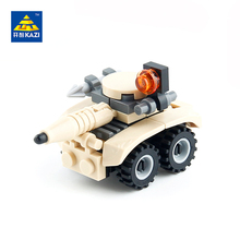 KAZI Military Laser Car Armored Vehicles Building Blocks Sets Bricks Model Brinquedos Educational Toys for Children 6+ 84017
