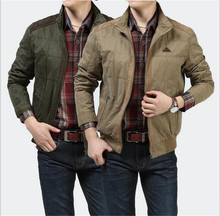 New Men's Jacket Plus 4XL size Loose cotton Military Men New Spring mens Casual Coats warm Military Jackets(China)