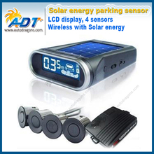 Auto Reversing Kit Parking Assist System Sun Energy Wireless With Solar Energy LCD Car Parking Sensor Kits & 4 Radar Sensor(China)