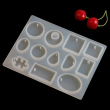 12 Designs Cabochon Silicone Mold Necklace Pendant Resin Jewelry Making Mould DIY Hand Craft