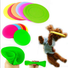 Fantastic  Pet Dog Flying Disc Tooth Resistant Training Toy Play Frisbee Tide  Free Shipping