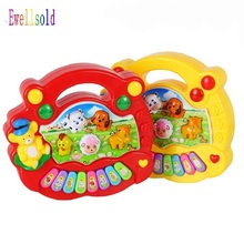 Ewellsold New Baby Kids Toy Musical Instrument Educational Piano Animal Farm Developmental High Quality Music Toy Gift(China)