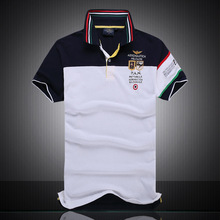 2017 new Fashion casual brand mens summer 100% cotton Short sleeve army Air force one Polo shirt men High-quality men clothing(China)