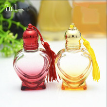 7ml Empty Glass Refillable Perfume Roll on Heart Bottles New Style Top Grade Originales Parfume Essential oil Pack Containers