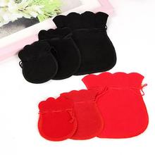 Holiday Gift 5PCS Velvet Drawstring Pouch Bag Small Jewelry Wedding Gift Bag Storage Favor 5*7CM 7*9 CM 9*12 CM