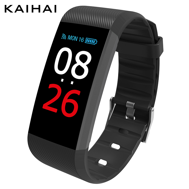 KAIHAI smart band fitness bracelet activity tracker H26 Heart rate Monitor watches blood pressure Phone Reminders Pedometer 2018<br>