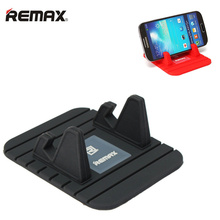 Remax anti mat mobile phone holder For Car iphone 7 huawei P8 lite soft silicone car phone holder support telephone voiture GPS