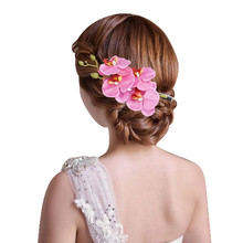 2017 New Fashion Flower Womens Hairpin Lady Hair Decorated Hairwear Womens Haarspeld Bridal Party Haarspeld Barrettes  368015