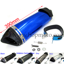 Buy Dirt Bike 38mm Exhaust Muffler 5 colour option move blow-down silencer /Mute pit bike motocross scooter ALUMINUM END for $25.00 in AliExpress store