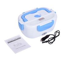 Universal Plug Heated Lunch one Box 12 V Heating Lunchbox Food Warmer Car Truck Stove Oven Electric Rice Cooker Blue /Red