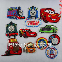 Thomas combination fabric clothes patch stickers child clothes patchwork DIY garment accessories Iron-On Embroidered appliques