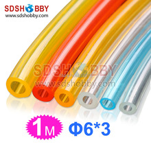 6*3mm 1 Meter Fuel Line/ Fuel Pipe for Gas Engine/ Nitro Engine-Yellow/ Transparent/ Blue/Red Color