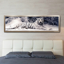 5d diy diamond painting chinese cross stitch tiger picture mosaic kit diamond embroidery hobbies and crafts needlework 160*48cm