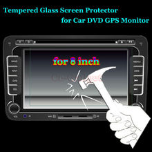Premium Tempered Glass Screen Protector Cover for Ford Focus/Edge/Maverick/Mondeo/Explorer Car DVD GPS Video LCD Cover Guard(China)