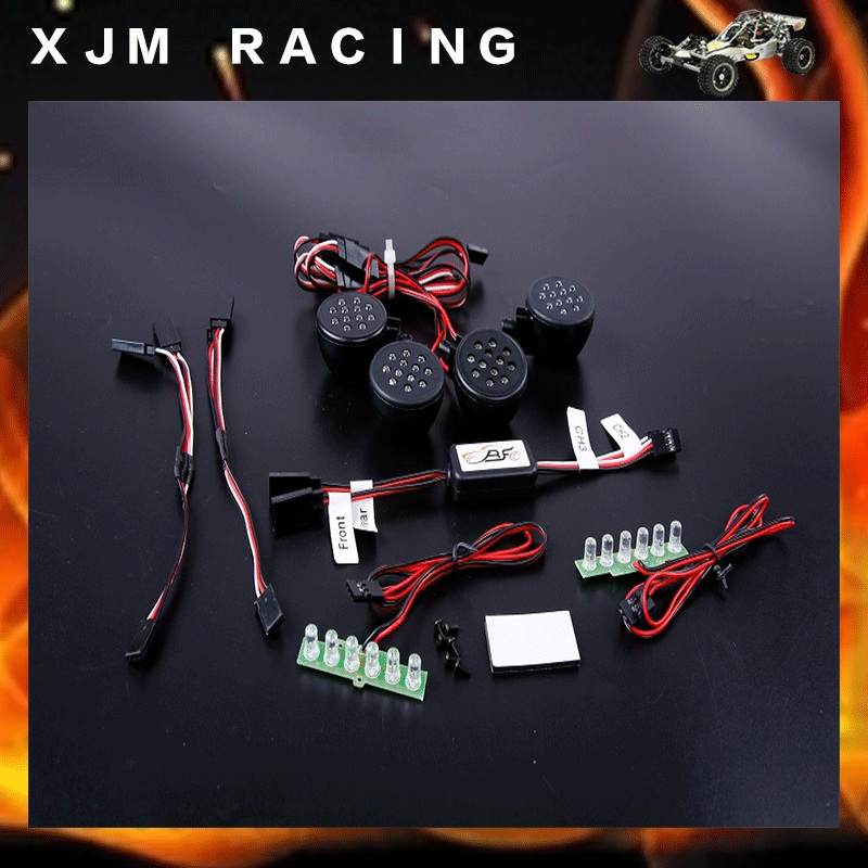 plastic front light and rear LED light set for 1/5 hpi baja 5t rc car parts<br>