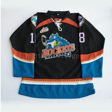 Kelowna Rockets #18 Brett Bulmer Hockey Jersey Embroidery Stitched Customize any number and name Jerseys(China)