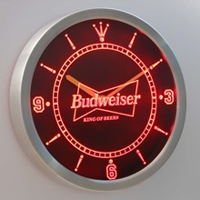 nc0472 Budweiser Beer Neon Sign LED Wall Clock