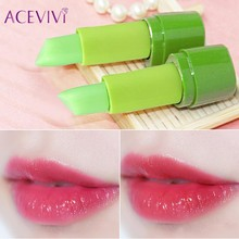 ACEVIVI 99% Aloe Vera Essence Lips Moistourizer Change Color Lipstick Long Lasting Beauty Batom Lip Makeup High Quality