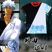 Buy Anime Gintama Cosplay T-shirt Silver Soul Sakata Gintoki Costume Casual Unisex Short Sleeve Tops Tee Shirt M-XXL Free for $9.89 in AliExpress store