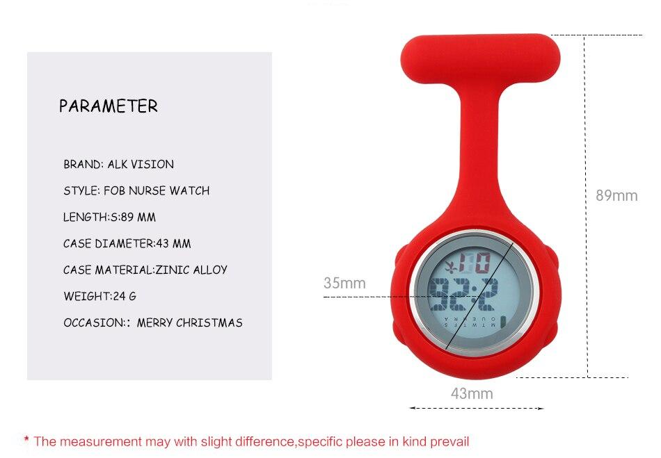 ALK Digital nurse watch Silicone for nurse fob clip watch for doctors nurse pocket Quartz watches medical brooch dropshipping 11