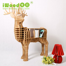 European Nordic creative home manufacturers Continental wooden ornaments Home Decoration simulation deer wood craft home decor(China)