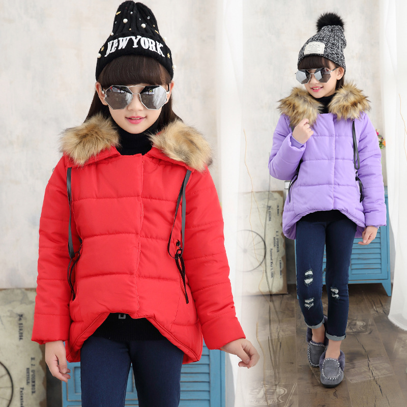2017 Forked Tail Girls Cotton-padded Clothes Jackets/coats Winter Russia Coats Thick Warm Jacket Children Outerwears JacketsОдежда и ак�е��уары<br><br><br>Aliexpress