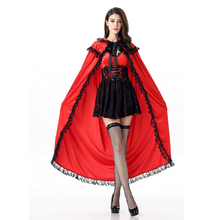Vocole Halloween Women Little Red Riding Hood Costume(China)