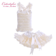 Cutestyles New Fashion Infant Girl Ribbon Dresses Beige Petti Dress Tutu Style For Baby Kids Wear Children Clothes TC21219-04