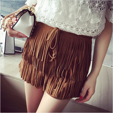 2015 fashion wild suede shorts decorated female cheap clothes china women dress Discount promotion Hot sexy fashion shorts