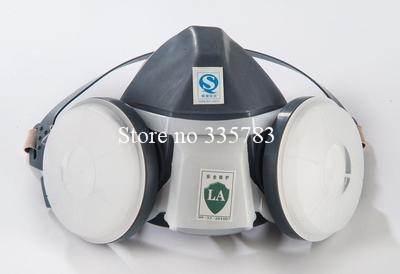 Silicone PM2.5 respirator dust filter type safety mask gray dust mask double pot CE respirator mask Free shipping<br><br>Aliexpress