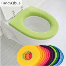 Warmer Toilet Seat Cover for Bathroom Products Pedestal Pan Cushion Pads Use In O-shaped Flush Comfortable Toilet Random Color