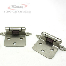 1 Pair Satin Nickel Flush Type Self Close Cabinet Hinge Kitchen Furniture Hinges Hardware Door Hinge